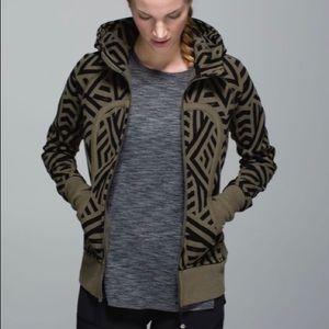 Lululemon Scuba Green/Black Zipper Hooded Jacket 4